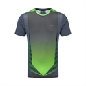 Picture of Ron Hill Men's Advance S/S Crew - Granite/Flo Green
