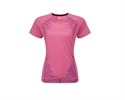 Picture of Ron Hill Ladies Aspiration S/S Tee - Rose/Sky Blue