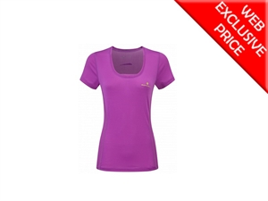 Picture of Ron Hill Ladies Stride Zeal SS Tee - Thistle
