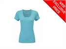 Picture of Ron Hill Ladies Momentum S/S Tee - Surf