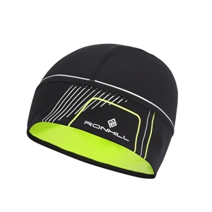 Picture of Ron Hill Run Beanie - Black/Flo Yellow