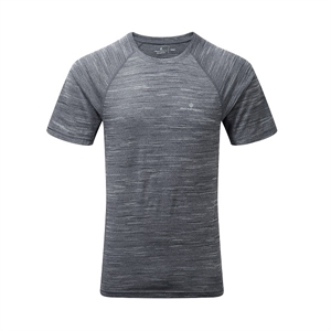Picture of Ron Hill Men's Momentum S/S Tee - Charcoal Marl