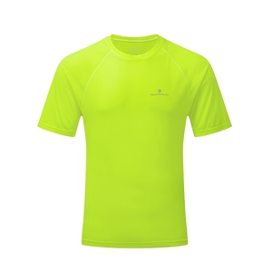 Picture of Ron Hill Men's Momentum S/S Tee - Flo Yellow Marl