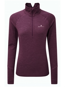 Picture of Ron Hill Ladies Stride Thermal LS Zip Tee - Aubergine