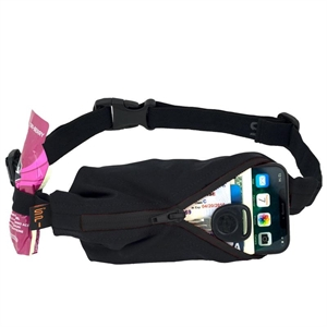 Picture of SPIbelt Water Resistant Pocket with 4 Gel Loops - Black with Black Zip