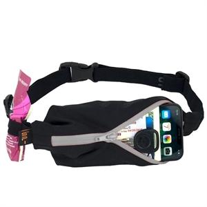 Picture of SPIbelt Water Resistant Pocket with 4 Gel Loops - Black with Grey Zip