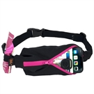 Picture of SPIbelt Water Resistant Pocket with 4 Gel Loops - Black with Pink