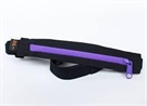 Picture of SPIbelt Water Resistant Pocket with 4 Gel Loops - Black with Purple