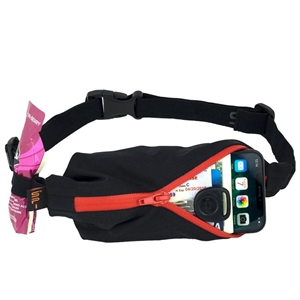 Picture of SPIbelt Water Resistant Pocket with 4 Gel Loops - Black with Red