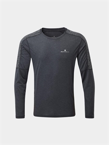 Picture of Ron Hill Men's Life Nightrunner L/S Tee - Granite