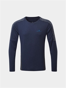 Picture of Ron Hill Men's Life Nightrunner L/S Tee - Navy
