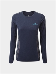 Picture of Ron Hill Ladies Life Nightrunner L/S Tee - Navy