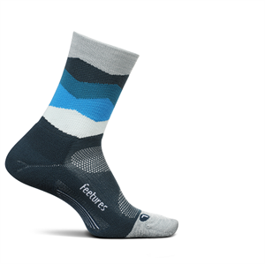 Picture of Feetures Elite Light Cushion Mini Crew - Blue Waves