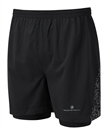 """Picture of Ron Hill Men's Life Night Runner 5"""" Twin Short - Black"""