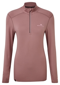 Picture of Ron Hill Ladies Tech Thermal 1/2 Zip Tee - Mauve